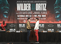 LAS VEGAS - NOVEMBER 20:  Leo Santa Cruz and Miguel Flores attend the final press conference for their November 23 fight on the Fox Sports PBC Pay-Per-View fight night on September 20, 2019 in. Las Vegas, Nevada. (Photo by Scott Kirkland/Fox Sports/PictureGroup)