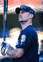 Phil Nevin of the San Diego Padres before a 1999 Major League Baseball season game against the Los Angeles Dodgers in Los Angeles, California. (Larry Goren/Four Seam Images)