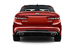 Straight rear view of 2018 KIA Optima SX 4 Door Sedan Rear View  stock images