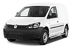 2014 Volkswagen CADDY 1.6 TDI 4 Door Car Van Angular Front stock photos of front three quarter view