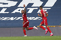 Britt Assombalonga of Middlesbrough scores the first goal for his team and celebrates during Millwall vs Middlesbrough, Sky Bet EFL Championship Football at The Den on 8th July 2020