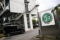 7th October 2020, FRankfurt, Germany; The DFB German Football League offices are raided by the German Anti-Fraud squad; Police vans outside the offices