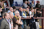 Stenhousemuir 0 Alloa Athletic 1, 21/08/2010. Stadium, Scottish Second Division. Supporters of Alloa Athletic football club watching their team at Ochilview stadium, Larbert, during their Irn Bru Scottish League second division match against Stenhousemuir. Alloa won the match by one goal to nil against their local rivals in a match watched by 619 spectators. Photo by Colin McPherson.