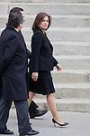 Madrid´s Mayor Ana Botella (C) attends the funeral chapel of former Spanish Prime Minister Adolfo Suarez to the Spanish Parliament in Madrid, Spain. March 24, 2014. (ALTERPHOTOS/Victor Blanco)