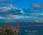 Golden Gate Bridge, Rainbow, San Francisco, California