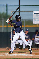 San Diego Padres Ruddy Giron (2) during an instructional league game against the Texas Rangers on October 9, 2015 at the Surprise Stadium Training Complex in Surprise, Arizona.  (Mike Janes/Four Seam Images)