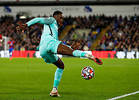 27th September 2021;  Selhurst Park, Crystal Palace, London, England; Premier League football, Crystal Palace versus Brighton & Hove Albion: Danny Welbeck of Brighton & Hove Albion tries to keep the ball in play