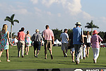WELLINGTON, FL - FEBRUARY 19:  At halftime, guests stomp divots. Scenes from the Ylvisaker Cup Final as Coca Cola 9 defeats Tonkawa 8 in overtime with a Golden Goal on a Penalty 2 by Julio Arellano, in the William Ylvisaker Cup Final, at the International Polo Club, Palm Beach on February 19, 2017 in Wellington, Florida. (Photo by Liz Lamont/Eclipse Sportswire/Getty Images)