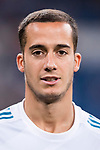 Lucas Vazquez of Real Madrid in training prior to the La Liga 2017-18 match between Real Madrid and Valencia CF at the Estadio Santiago Bernabeu on 27 August 2017 in Madrid, Spain. Photo by Diego Gonzalez / Power Sport Images