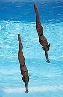 Mexico's Paola Espinosa and Laura Sanchez compete in the women 3-meter synchro springboard diving finals at the Swimming World Championships in Rome, 24 July 2009. .UPDATE IMAGES PRESS/Riccardo De Luca