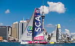 Teams sail during the New Zealand Herald In-Port Race Auckland as part of the Volvo Ocean Race 2014-2015 Leg 5 Auckland - Itajai on 14 March 2015 in Auckland, New Zealand. Photo by Victor Fraile / Power Sport Images