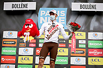 Oliver Naesen (BEL) AG2R Citroen Team wins the days combativity prize at the end of Stage 5 of Paris-Nice 2021, running 200km from Vienne to Bollene, France. 11th March 2021.<br /> Picture: ASO/Fabien Boukla   Cyclefile<br /> <br /> All photos usage must carry mandatory copyright credit (© Cyclefile   ASO/Fabien Boukla)