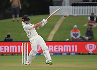 NZ's Daryl Mitchell bats during day three of the second International Test Cricket match between the New Zealand Black Caps and Pakistan at Hagley Oval in Christchurch, New Zealand on Tuesday, 5 January 2021. Photo: Dave Lintott / lintottphoto.co.nz