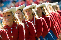 01 January 2007: Members of the Kilgore Rangerettes wait to perform before the 2007 AT&T Cotton Bowl Classic between The University of Auburn and The University of Nebraska at The Cotton Bowl in Dallas, TX.