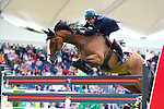 Equestrian - Showjumping - Meydan FEI Nations Cup.Peter Charles (GBR) aboard Murka's Pom D'Ami in action during the Meydan FEI Nations Cup at the Royal Dublin Society (RDS) in Dublin.