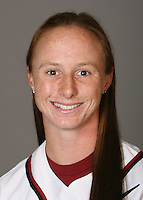 STANFORD, CA - NOVEMBER 3:  Sarah Hassman of the Stanford Cardinal softball team poses for a headshot on November 3, 2008 in Stanford, California.