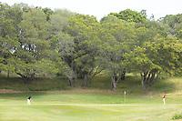 STANFORD, CA - APRIL 24: Aline Krauter, Allisen Corpuz at Stanford Golf Course on April 24, 2021 in Stanford, California.