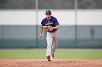 Cameron Rivera (63), from Pitman, New Jersey, while playing for the Rockies during the Baseball Factory Pirate City Christmas Camp & Tournament on December 30, 2017 at Pirate City in Bradenton, Florida.  (Mike Janes/Four Seam Images)