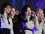 Members of multinational girl group TWICE attend the photo call during the 2019 MAMA(Mnet Asian Music Awards) at the Nagoya Dome in Nagoya, Aichi-Prefecture, Japan on December 4, 2019. (Photo by AFLO)