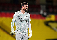 Ben Foster of Watford during the Sky Bet Championship behind closed doors match played without supporters with the town in tier 4 of the government covid-19 restrictions, between Watford and Norwich City at Vicarage Road, Watford, England on 26 December 2020. Photo by Andy Rowland.