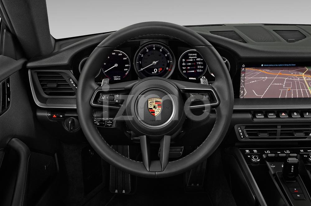Car pictures of steering wheel view of a 2020 Porsche 911 Carrera-S 2 Door Coupe Steering Wheel