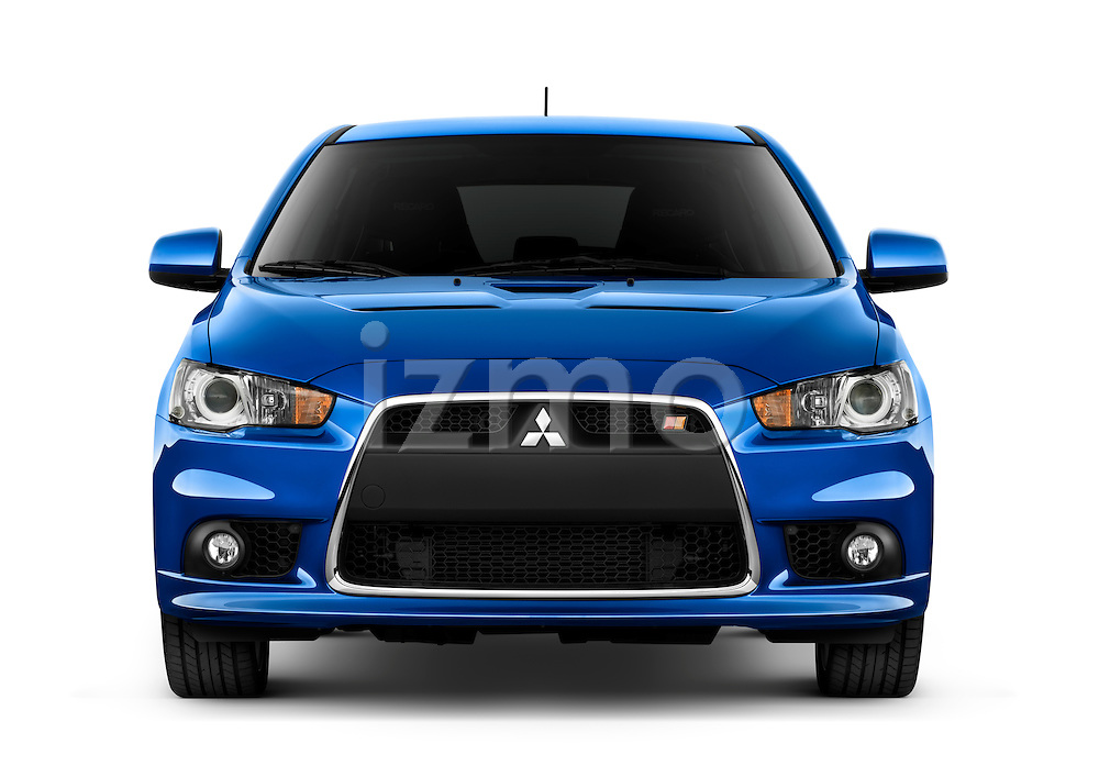 Straight front view of a 2010 Mitsubishi Lancer Sportback