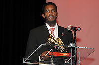 DC United forward Luciano Emilio recipient of the Budweiser Golden Boot.   At the 6th Annual DC United Awards Presentation ,at the Atlas Performing Arts Center in Washington DC ,Wednesday October 27, 2009.