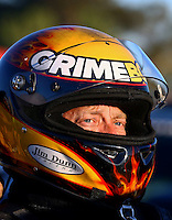 Jul. 26, 2013; Sonoma, CA, USA: NHRA funny car driver Jeff Arend during qualifying for the Sonoma Nationals at Sonoma Raceway. Mandatory Credit: Mark J. Rebilas-