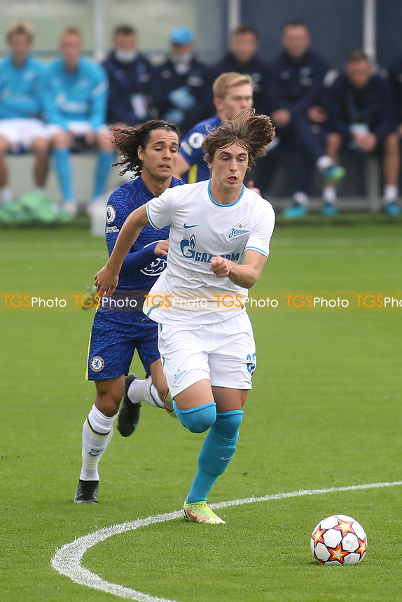 Akim Belokhonov of Zenit St Petersburg in action during Chelsea Under-19 vs FC Zenit Under-19, UEFA Youth League Football at Cobham Training Ground on 14th September 2021