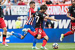Lucas Hernandez (L) of Atletico de Madrid fights for the ball with Yeray Alvarez Lopez (R) of Athletic Club during their La Liga match between Atletico de Madrid vs Athletic de Bilbao at the Estadio Vicente Calderon on 21 May 2017 in Madrid, Spain. Photo by Diego Gonzalez Souto / Power Sport Images