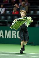Rotterdam, The Netherlands, Februari 8, 2016,  ABNAMROWTT, Borna Coric (CRO), Ball-Boy<br /> Photo: Tennisimages/Henk Koster