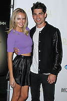 "LOS ANGELES, CA, USA - APRIL 17: Meilssa Ordway, Justin Gaston at the Drake Bell ""Ready Steady Go!"" Album Release Party held at Mixology101 & Planet Dailies on April 17, 2014 in Los Angeles, California, United States. (Photo by Xavier Collin/Celebrity Monitor)"