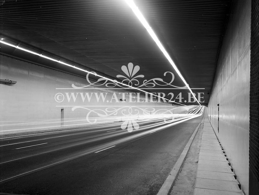 September 1969. Kennedytunnel in Antwerpen.