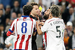 German referee Felix Brych show yellow card to Arda Turan during Champions League 2014/2015 Quarter-finals 2nd leg match.April 22,2015. (ALTERPHOTOS/Acero)