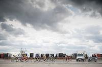 breakaway group over the cobbles<br /> <br /> 101st Kampioenschap van Vlaanderen 2016 (UCI 1.1)<br /> Koolskamp › Koolskamp (192.4km)