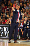 League ACB-ENDESA 201/2019.Game 38.<br /> PlayOff Semifinals.1st match.<br /> FC Barcelona Lassa vs Tecnyconta Zaragoza: 101-59.<br /> Porfirio Fisac.