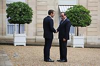 EMMANUEL MACRON, ABDEL FATTAH AL-SISSI - LE PRESIDENT EMMANUEL MACRON RECOIT LE PRESIDENT EGYPTIEN ABDEL FATTAH AL-SISSI AU PALAIS DE L'ELYSEE A PARIS, FRANCE, LE 24/10/2017.
