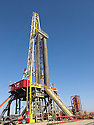Iraq 2011 Drilling rig on the Kurdish oil field of Western Zagros in Germian, Kurdistan<br /> Irak 2011 Plateforme de forage sur le champ de petrole kurde de Western Zagros dans le Germian