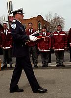 Photo d'archive - Funerailles policier vers 2003<br /> <br /> PHOTO :  AGENCE QUEBEC PRESSE