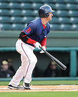 April 7, 2009: David Mailman of the Greenville Drive hits in a game against Wofford College on Tuesday, April 7, 2009, at Fluor Field in Greenville. Photo by:  Tom Priddy/Four Seam Images