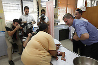 Minister of the Environment and International Development, Erik Solheim, during a visit to Khao Lak, north of Phuket. The area was severley hit by the Tsunami that struck Asia 26/12/2004.The area has since been rebuilt, and tourists have returned.  Takuapa Hospital treated many Scandinavians following the tsunami..©Fredrik Naumann/Felix Features.