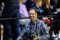 Photosport photographer Marty Melville during the National Basketball League match between Cigna Wellington Saints and Southland Sharks at TSB Bank Arena in Wellington, New Zealand on Friday, 7 May 2021. Photo: Dave Lintott / lintottphoto.co.nz