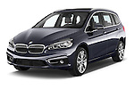 2015 BMW 2 Series Gran Tourer Luxury 5 Door Mini Mpv Angular Front stock photos of front three quarter view
