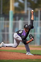 Colorado Rockies pitcher Wander Cabrera (48) during an Instructional League game against the San Francisco Giants on October 8, 2016 at the Giants Baseball Complex in Scottsdale, Arizona.  (Mike Janes/Four Seam Images)