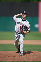 Mahoning Valley Scrappers relief pitcher Cameron Mingo (37) delivers a warmup pitch during the second game of a doubleheader against the Auburn Doubledays on July 2, 2017 at Falcon Park in Auburn, New York.  Mahoning Valley defeated Auburn 3-2.  (Mike Janes/Four Seam Images)