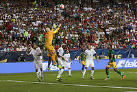 Atlanta, Georgia - Wednesday, July 22, 2015: Jamaica goes up 2-0 over the USMNT late in the first half during Semifinal play in the 2015 Gold Cup at the Georgia Dome.