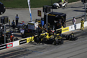 #26: Colton Herta, Andretti Autosport Honda, pit stop