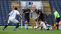 Bolton Wanderers' Craig Noone competing with Blackburn Rovers' Lewis Travis <br /> <br /> Photographer Andrew Kearns/CameraSport<br /> <br /> The EFL Sky Bet Championship - Blackburn Rovers v Bolton Wanderers - Monday 22nd April 2019 - Ewood Park - Blackburn<br /> <br /> World Copyright © 2019 CameraSport. All rights reserved. 43 Linden Ave. Countesthorpe. Leicester. England. LE8 5PG - Tel: +44 (0) 116 277 4147 - admin@camerasport.com - www.camerasport.com