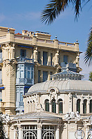 Europe/France/Provence-Alpes-Côte d'Azur/06/Alpes-Maritimes/ Beaulieu-sur-Mer: Rotonde et Hôtel Bristol