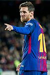 Lionel Andres Messi of FC Barcelona celebrates his second goal during the Copa Del Rey 2017-18 Round of 16 (2nd leg) match between FC Barcelona and RC Celta de Vigo at Camp Nou on 11 January 2018 in Barcelona, Spain. Photo by Vicens Gimenez / Power Sport Images